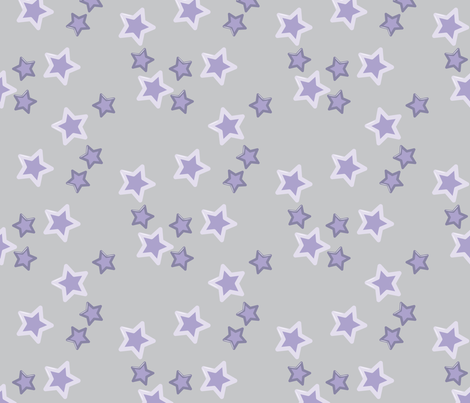 Baby dino stars purple fabric sansdesign spoonflower for Purple baby fabric