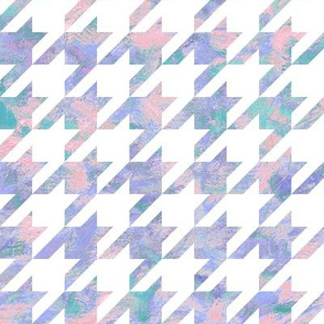 painted houndstooth - pink, purple and teal