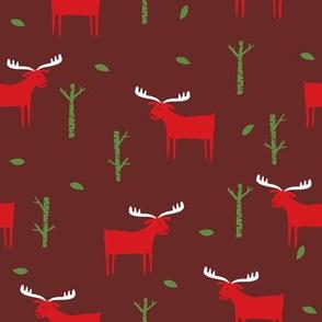 moose red on maroon