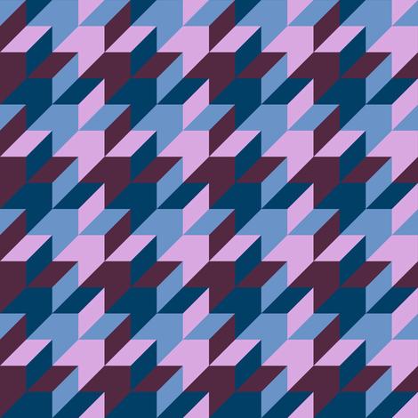 harlequin houndstooth - twilight mauve and blue fabric by weavingmajor on Spoonflower - custom fabric