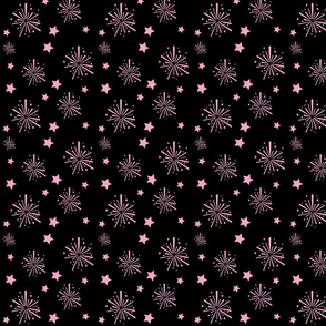 New_Year_Fabric Pink Fireworks