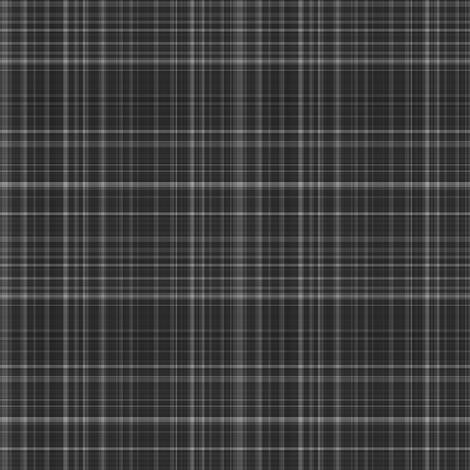 Dark Gray Plaid 1 fabric by gingezel on Spoonflower - custom fabric