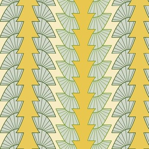 Small pattern in yellow and green.