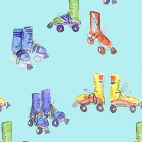 rollerskate blue