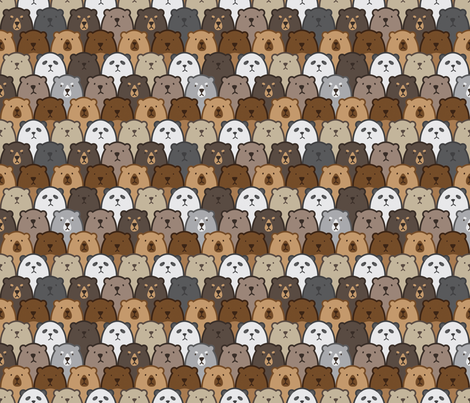Bears Bears Bears! fabric by tinykiwidesign on Spoonflower - custom fabric