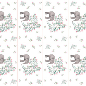 Pink Branch Elephant - 8 to 1 Yard