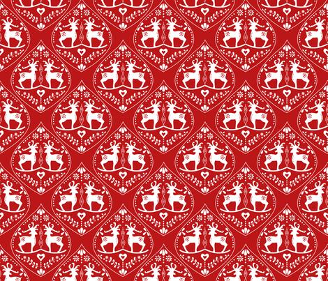 Deer fabric by kathrinlegg on Spoonflower - custom fabric