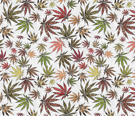 Swirling Ganja fabric by camomoto on Spoonflower - custom fabric