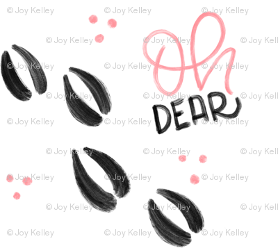 Oh dear - Pink Deer tracks - Big patterns