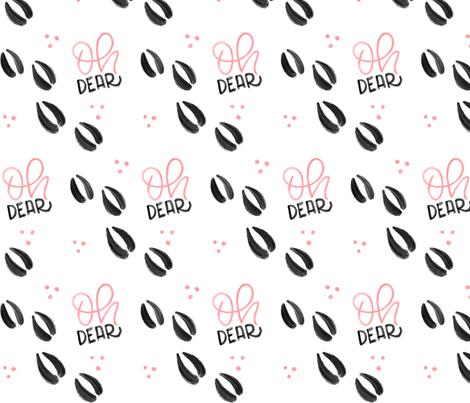 Oh dear - Pink Deer tracks - Big patterns fabric by howjoyful on Spoonflower - custom fabric