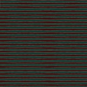 wavy stripe red gold green matches Cats