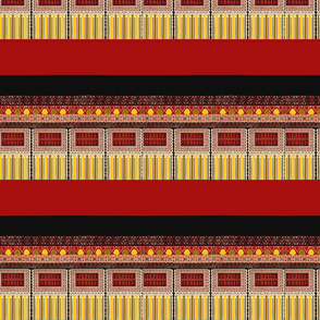 red black and gold middle eastern