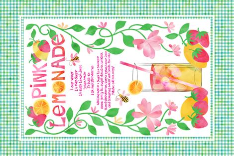 Summer Lemonade fabric by vo_aka_virginiao on Spoonflower - custom fabric