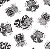 Sugar skulls black and white