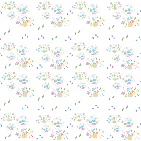 teapot fabric by y_me_it's_me on Spoonflower - custom fabric
