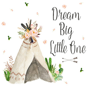 "FOR MINKY FABRIC - 2 to 1 Yard - 27"" Dream Big Little One"