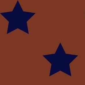 Navy & Copper Stars