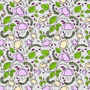 Purple Poppies on Gray