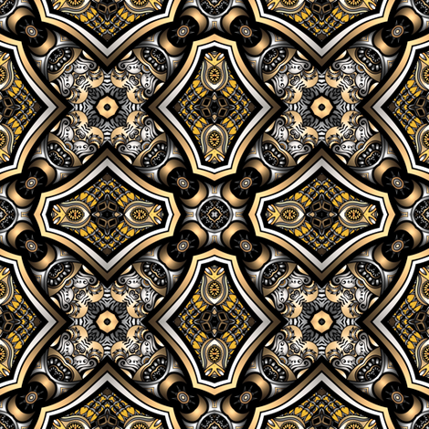 top brass III fabric by janbalaya on Spoonflower - custom fabric