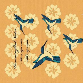 Hummingbird Nectar Recipe Tea Towel