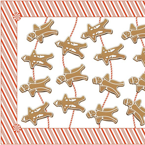Gingerbread Men Tea Towel