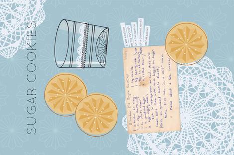 Grandma's Sugar Cookies Tea Towel fabric by jenimp on Spoonflower - custom fabric