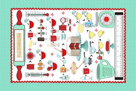 Barbara Jean's Red Velvet Cake  fabric by mulo_marrone on Spoonflower - custom fabric