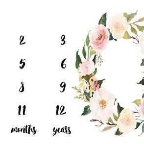 Blush Spring Blooms Baby Milestone Blanket