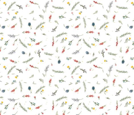 Wild flower pattern fabric by kelseycarlsonart on Spoonflower - custom fabric