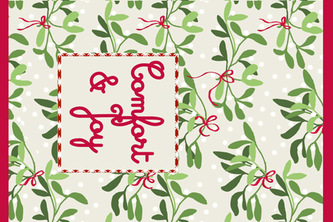 comfort and joy fabric by lfntextiles on Spoonflower - custom fabric