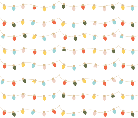 Retro Twinkle Lights (Large) fabric by shelbyallison on Spoonflower - custom fabric