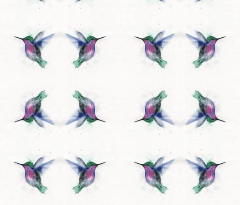 Fierce-watercolor fabric by happy_soul on Spoonflower - custom fabric