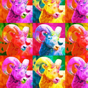 bighorn sheep pop art style