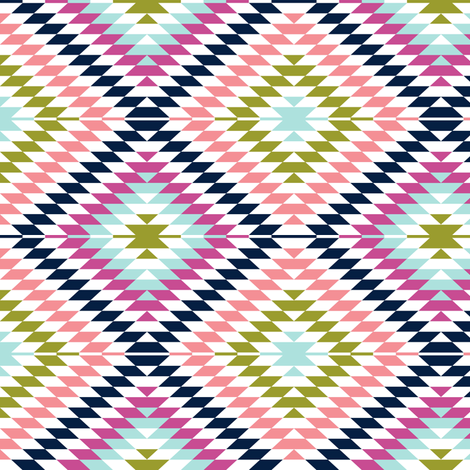 aztec || the good cheer collection fabric by littlearrowdesign on Spoonflower - custom fabric