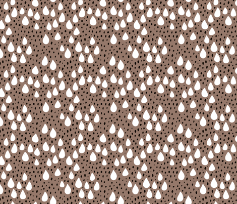 Abstract love and rain drops and dots geometric memphis style design winter fall ice brown snow fabric by littlesmilemakers on Spoonflower - custom fabric