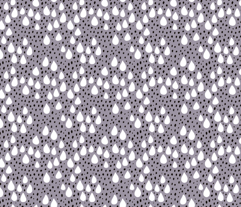 Abstract love and rain drops and dots geometric memphis style design winter fall ice blue lilac snow fabric by littlesmilemakers on Spoonflower - custom fabric
