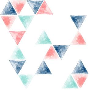 Watercolor triangles fun