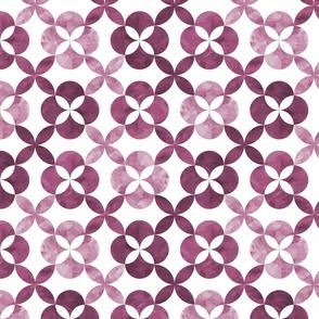 Geometric flower tiles