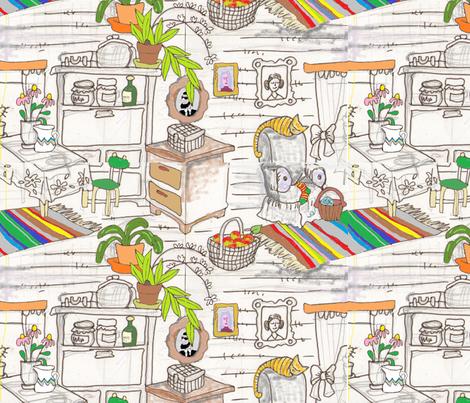 Grandma's Kitchen fabric by palusalu on Spoonflower - custom fabric