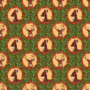 camo_deer_circles_tan_6x6