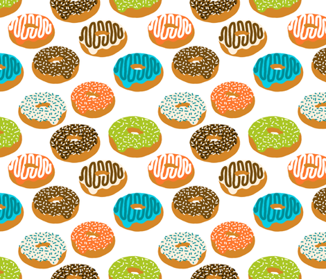 donuts doughnuts print boys gender neutral donut food print novelty fabric fabric by charlottewinter on Spoonflower - custom fabric