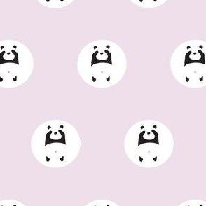 pink peek a boo panda polka dot