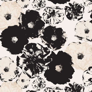 Vintage Rose | Black & Cream