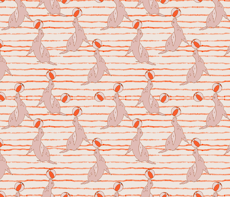 bebe_seal_stripe fabric by holli_zollinger on Spoonflower - custom fabric