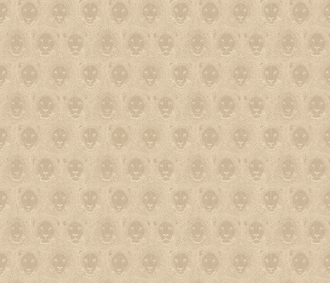 Neutral_Lions fabric by gothiccolour on Spoonflower - custom fabric