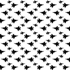 F35 Jet in Black offset pattern