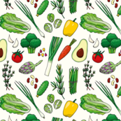 Pattern with veggies