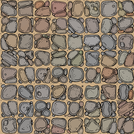 Sandy Rocks Cavern Floor  fabric by billiambabble on Spoonflower - custom fabric