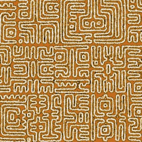 Marquesan Glyphs 3c fabric by muhlenkott on Spoonflower - custom fabric