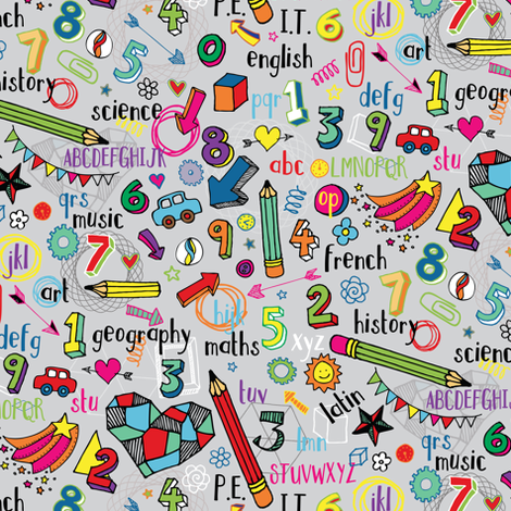 Back to School fabric by cecca on Spoonflower - custom fabric